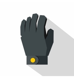 Hockey glove icon flat style vector image vector image