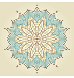 Mandala beautiful hand drawn flower vector
