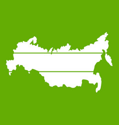 map of russia icon green vector image