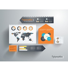 Modern web site layout vector