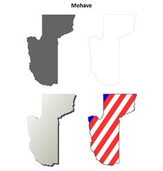 Mohave county arizona outline map set vector