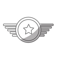 Navy medal with wings vector
