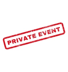 Private Event Rubber Stamp vector image