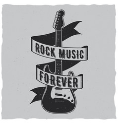 Rock music forever poster vector
