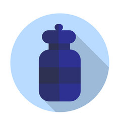 round bottle icon flat vector image vector image
