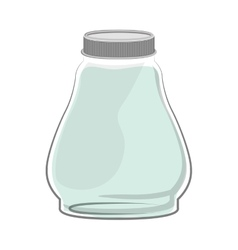 Silhouette glass container with green liquid vector