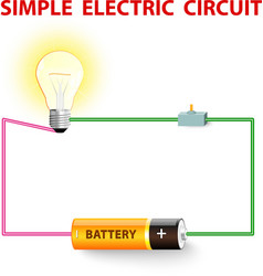 simple electric circuit vector image vector image