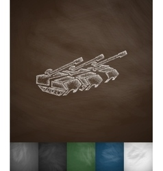 Tanks icon hand drawn vector