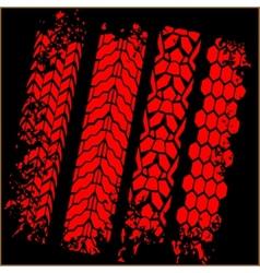 Tire tracks - set vector