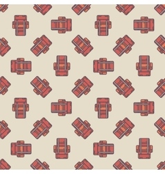 Touristic backpacks pattern vector image