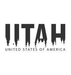 Utah usa united states of america text or vector