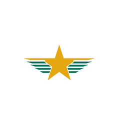 wing star logo vector image