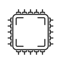 Microchip line icon vector