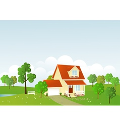 Summer house vector