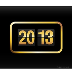 Flip clock with 2013 year vector image