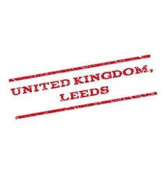 United Kingdom Leeds Watermark Stamp vector image