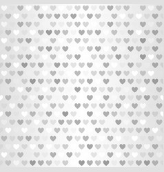 Heart pattern seamless glowing silver background vector
