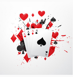 Four aces poker card vector