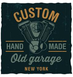 Custom old garage poster vector
