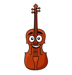 Happy wooden violin with a big smile vector