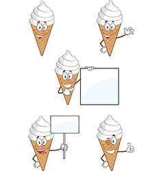 Ice cream cartoon vector