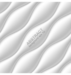 White seamless wavy background vector
