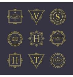 Set of badges Old school Vintage banners vector image