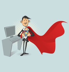 Office superhero vector