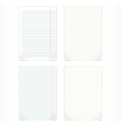 set of four blank pages vector image