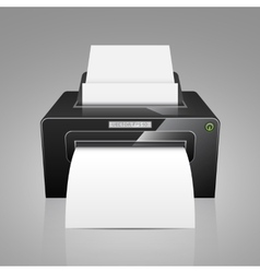 Realistic black model printer vector
