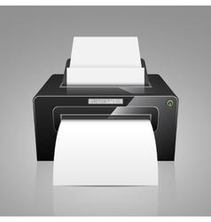 Realistic black model printer vector image
