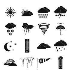 Weather set icons simple style vector