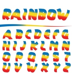 Bright rainbow letters vector