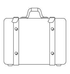 Suitcase with handle icon vector