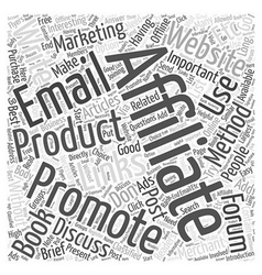 Affiliate marketing without a website word cloud vector