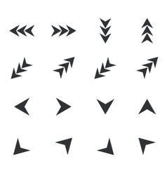 Arrow icon set 4 simple vector