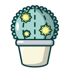 Astrophytum cactus icon cartoon style vector
