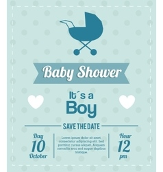 Baby shower design stroller icon blue vector