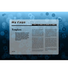 Blue webpage template vector