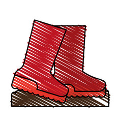 Boots shoes icon image vector