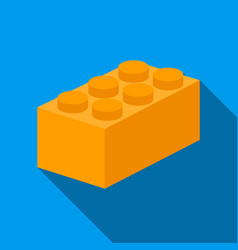 building block flate icon for web vector image