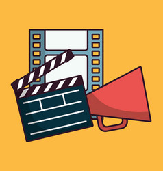 Cinema related icons vector