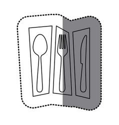contour cutlery tools icon vector image