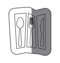 contour cutlery tools icon vector image vector image