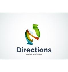 Direction arrows logo vector