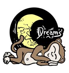dreams monkey vector image