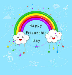 Happy friendship day card design vector