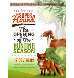 hunting season opening poster vector image vector image