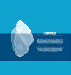 iceberg above and under water north sea poster vector image