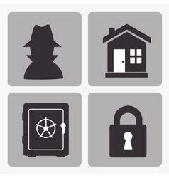 insurance security design vector image
